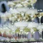 Бокалы шале для горки шампанского